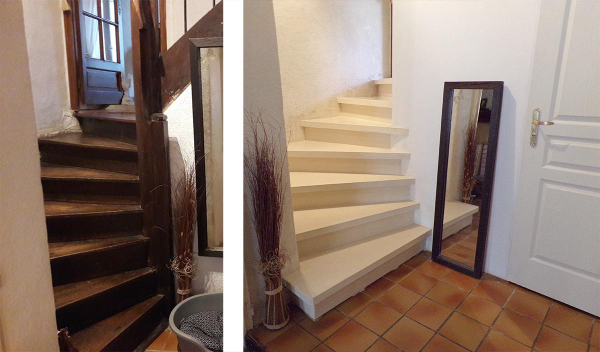 Escalier Beton Exterieur Prix remplacement d'un escalier en bois par un escalier en béton