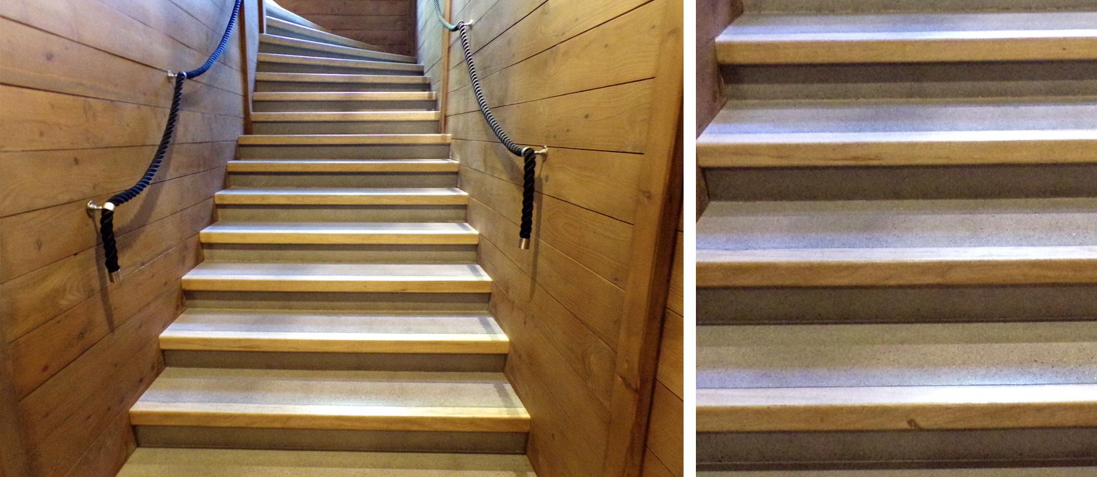 Escalier Bois Entre Deux Murs mise en conformité des erp : les escaliers